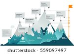 7 mountains peaks | Shutterstock .eps vector #559097497