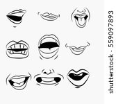 vector illustration of lips... | Shutterstock .eps vector #559097893