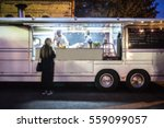 food truck blurred on purpose | Shutterstock . vector #559099057