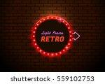 light frame circle shining...   Shutterstock .eps vector #559102753