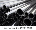 metal pipes of various diameters | Shutterstock . vector #559118707