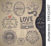 day valentine calligraphic... | Shutterstock .eps vector #559121437