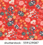 trendy seamless floral pattern... | Shutterstock .eps vector #559129087