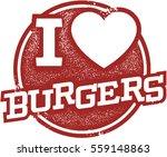 i love burgers stamp | Shutterstock .eps vector #559148863