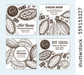 banner set for cocoa shop.... | Shutterstock .eps vector #559153327