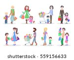 set of different shopping... | Shutterstock .eps vector #559156633