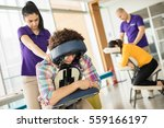 office massage at mobile chair  | Shutterstock . vector #559166197