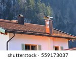 Chimney  Built Of Copper On A...
