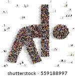 large and diverse crowd of...   Shutterstock . vector #559188997