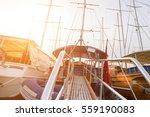 beautiful views of the marina ... | Shutterstock . vector #559190083
