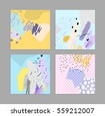 set of creative universal art... | Shutterstock .eps vector #559212007