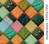 leather patchwork background 3d ... | Shutterstock . vector #559217353