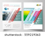 business templates for brochure ... | Shutterstock .eps vector #559219363