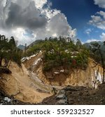 the riverbed of a mountain... | Shutterstock . vector #559232527