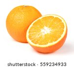 oranges on white background | Shutterstock . vector #559234933