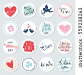valentines day circles design... | Shutterstock .eps vector #559238263
