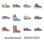 sneakers and men shoes icon   Shutterstock .eps vector #559247053