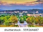view along kings avenue towards ... | Shutterstock . vector #559264687
