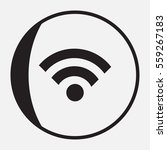 wifi icon in trendy flat style...