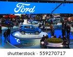 detroit   january 9  the ford... | Shutterstock . vector #559270717