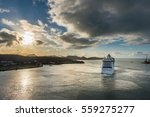 Cruise Ship Heading Out To Sea...