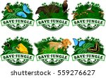 save jungle emblems with... | Shutterstock .eps vector #559276627
