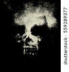 skull on isolated black... | Shutterstock . vector #559289377