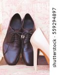 The Groom's Shoes  Bridesmaid...