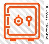 orange safe toolbar pictogram.... | Shutterstock .eps vector #559297183