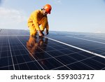 engineer working on checking... | Shutterstock . vector #559303717