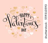 valentine's day greeting card... | Shutterstock .eps vector #559310593