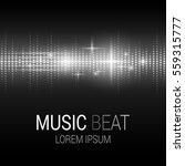 music beat. white lights... | Shutterstock .eps vector #559315777