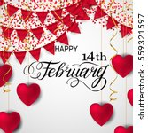 happy valentines day romantic... | Shutterstock .eps vector #559321597