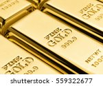 Rows Of Gold Bars. Financial...