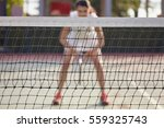 portrait young sport woman at...   Shutterstock . vector #559325743