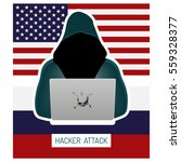 russian hacking usa. hacker in... | Shutterstock .eps vector #559328377
