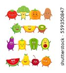 funny fruits and vegetables...   Shutterstock . vector #559350847
