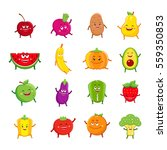 funny fruits and vegetables... | Shutterstock . vector #559350853