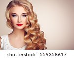 fashion portrait of young... | Shutterstock . vector #559358617