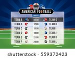 vector of american football... | Shutterstock .eps vector #559372423