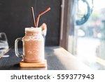 chocolate smoothie  milkshake ... | Shutterstock . vector #559377943