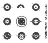 Set Of Abstract Sawmill Logo....