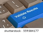 keyboard with key to validate... | Shutterstock . vector #559384177