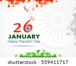 happy republic day of india... | Shutterstock .eps vector #559411717