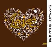 love postcard. lettering love.... | Shutterstock .eps vector #559420273