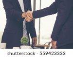 congratulation to collaboration ... | Shutterstock . vector #559423333