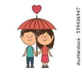 couple love card icon | Shutterstock .eps vector #559436947