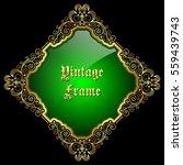 vintage decorative golden frame ... | Shutterstock .eps vector #559439743