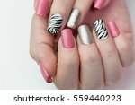 women's hands with a cheerful... | Shutterstock . vector #559440223