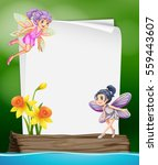 paper template with two fairies ... | Shutterstock .eps vector #559443607